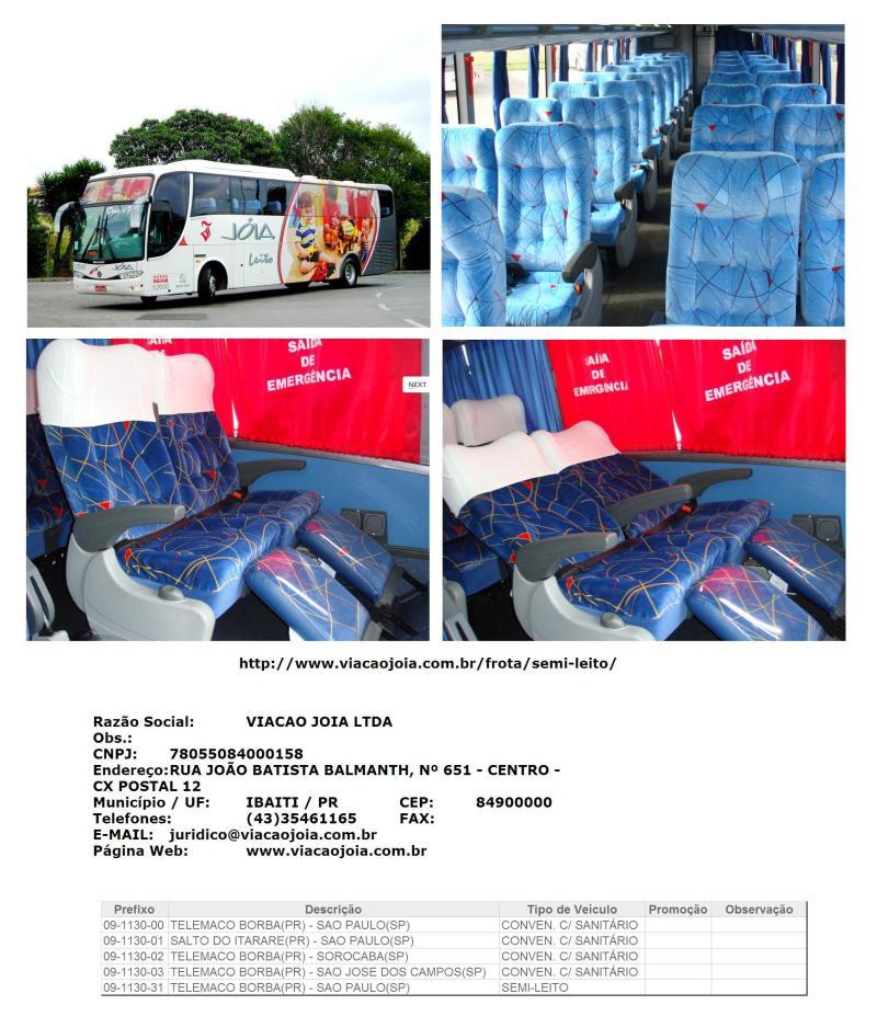 Joia 2011 873x1024 - Serviço Semi Leito – Conceitos sobre esta categoria de transporte rodoviário