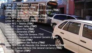 Linhas Avenida General Carneiro 300x173 - Região Oeste de Sorocaba – Linhas de ônibus urbanas predominantes