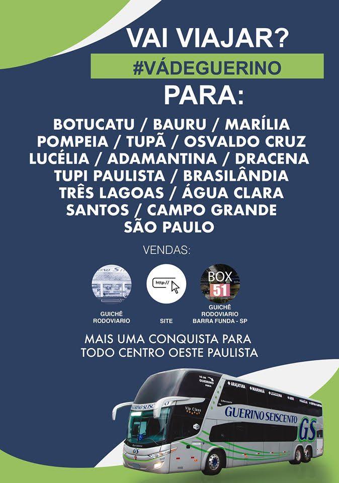 Linha Campo Grande Santos via São Paulo Propaganda Final de Setembro de 2019 - Rodoviária de Osvaldo Cruz – Um pouco do interior paulista