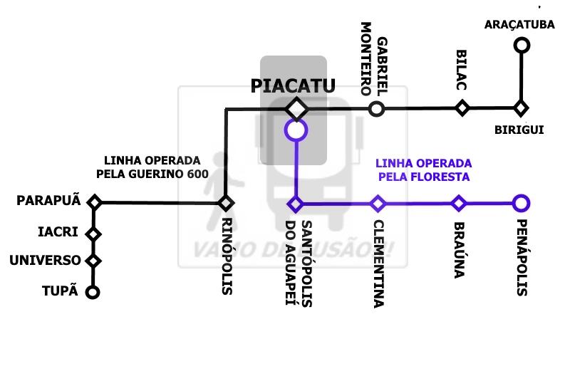 LINHAS QUE PASSAM EM PIACATU - Rodoviária de Piacatu – Um pouco do interior paulista