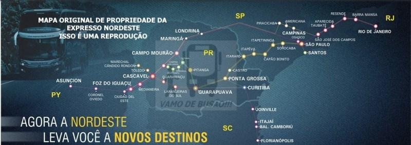EXPRESSO NORDESTE - Ônibus do Brasil para Paraguai – Saiba mais sobre esta ligação rodoviária internacional