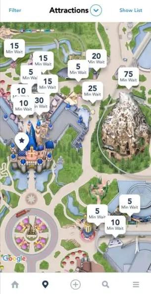 App de Disneyland para evitar largas filas en Disneyland
