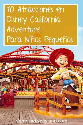 atracciones en Disney California Adventure para niños