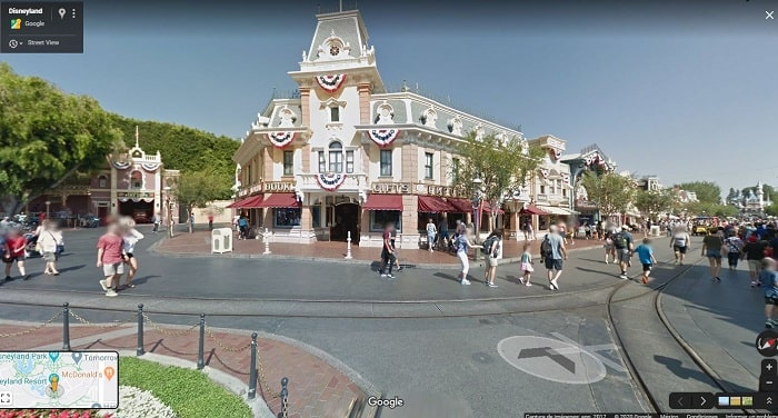 Disneyland con Google Street View