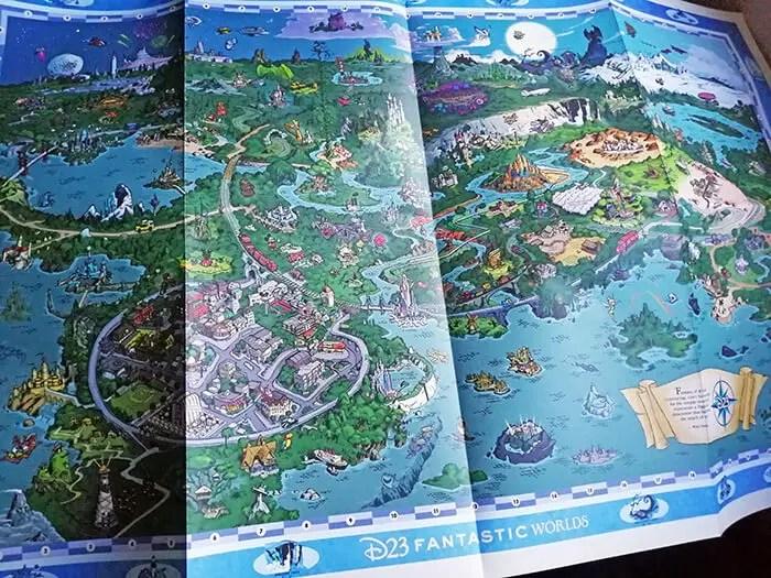 Mapa Kit D23 Fantastic Worlds 2020 Map