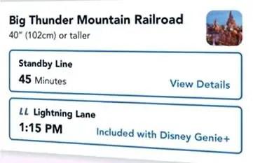 Fila Lightning Lane Disneyland