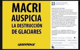 Greenpeace contra macri por Barrick