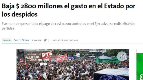 La Nación considera que los trabajadores eran un gasto