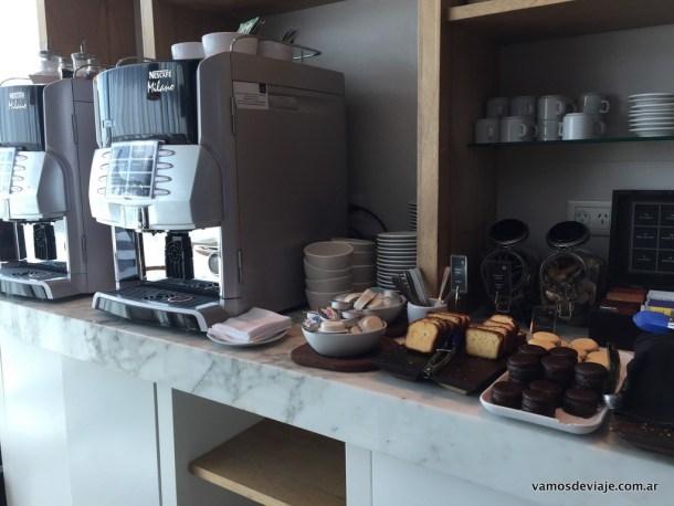 Café y comidas dulces.