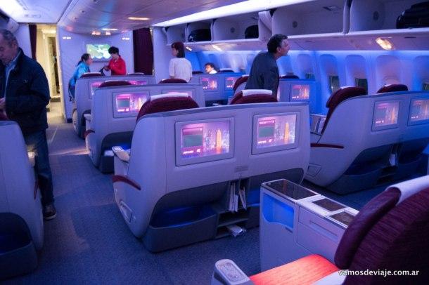 Business Class de Qatar