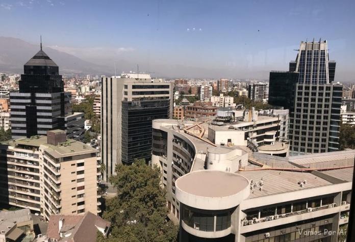 Vista de Santigo do Restaurante Giratório