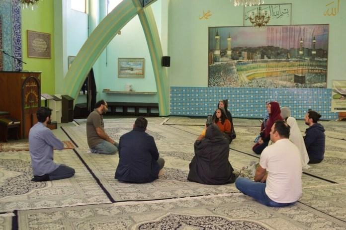 blogueiros na Mesquita de Curitiba