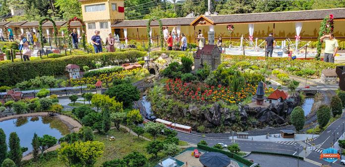 ferrovia que deu início ao parque Mini Mundo em Gramado