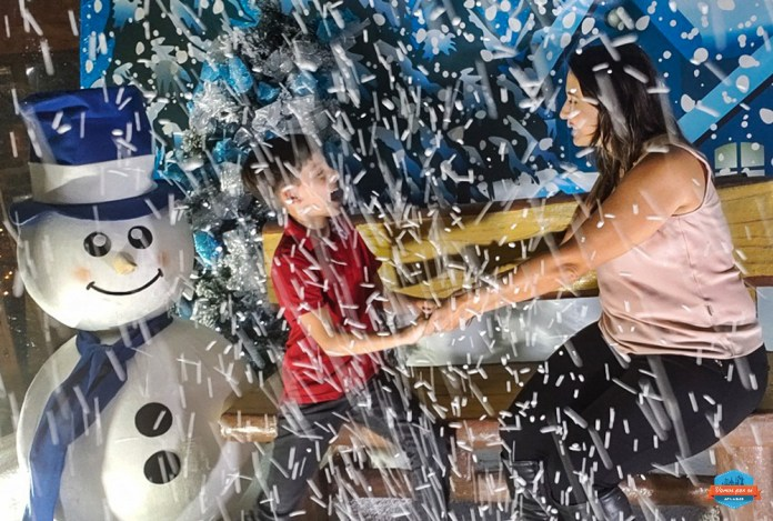 Globo de neve no Natal Luz