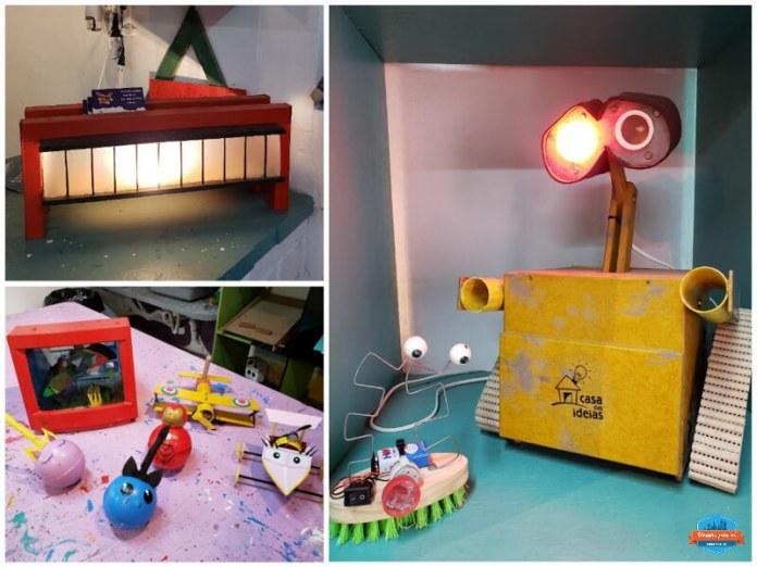 Alguns projetos desenvolvidos na Casa das Ideias em São Paulo