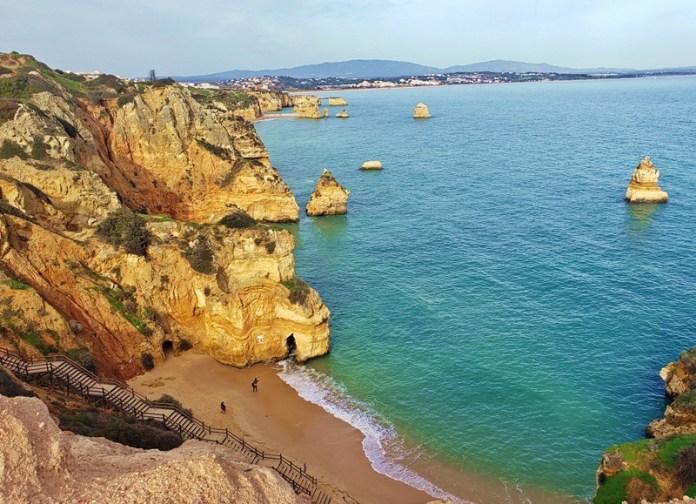 Praia do Camilo em Lagos, praias de Lagos, praias no Algarve, praias em Portugal