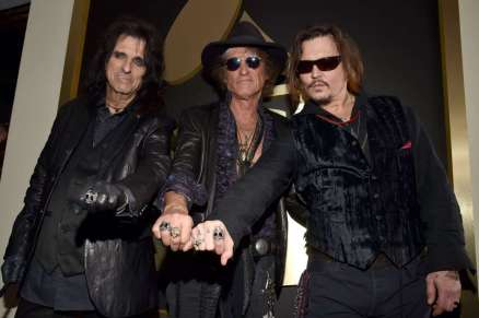 Alice Cooper, Joe Perry, Johnny Depp