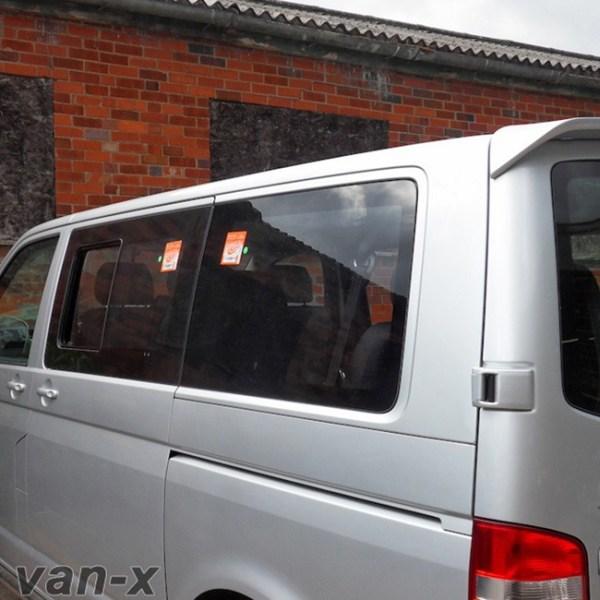 Rear Quarter Window for VW T5 Transporter SWB Smoked Glass-0
