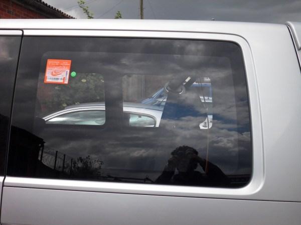 Rear Quarter Window for VW T5 Transporter SWB Smoked Glass-1320