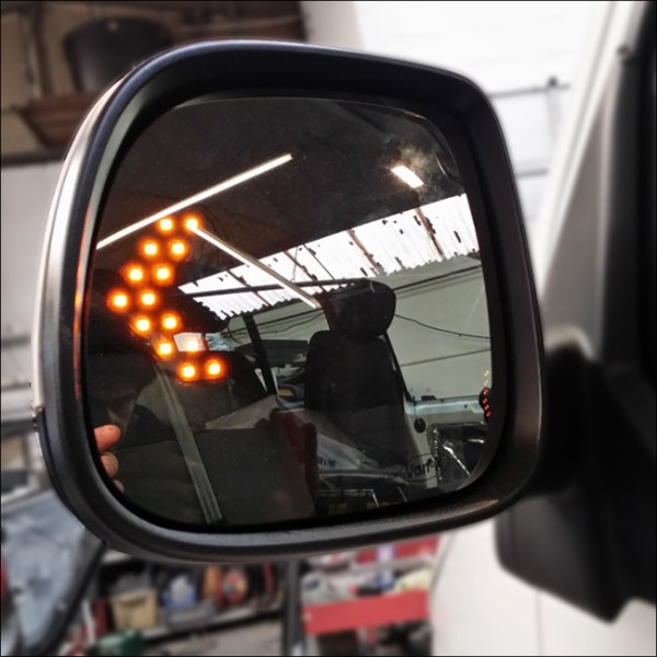 LED Wing Mirror Lens for VW T5 Heated -7788