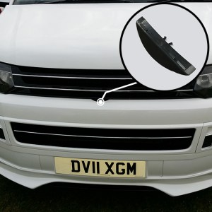 Front Badgeless Grille for VW Volkswagen T5.1 (PIANO BLACK)-0