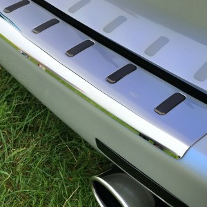 Rear Bumper Protector for VW T5 Stainless Steel-0