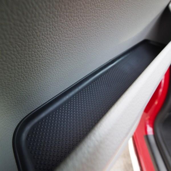 Rubber Door Pocket Inserts for VW T6 Transporter BLACK-20650