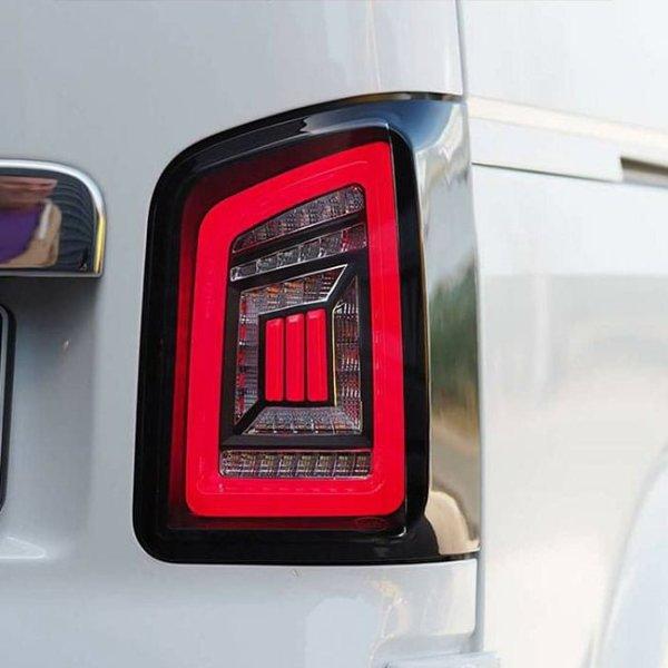 LED Rear Lights for VW T5 & T5.1 Transporter BARNDOOR NEW LIVE indicator rear lights (Audi style)-8847