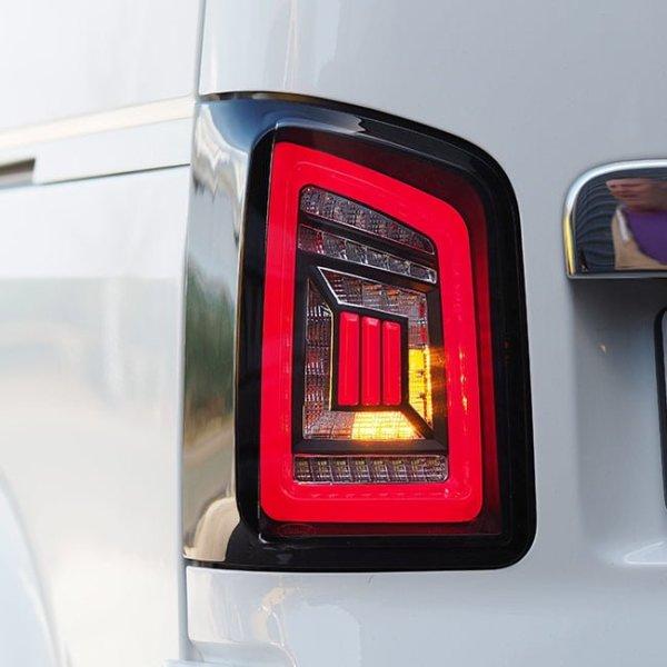 LED Rear Lights for VW T5 & T5.1 Transporter BARNDOOR NEW LIVE indicator rear lights (Audi style)-8849