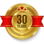 30 Years Trust Badge