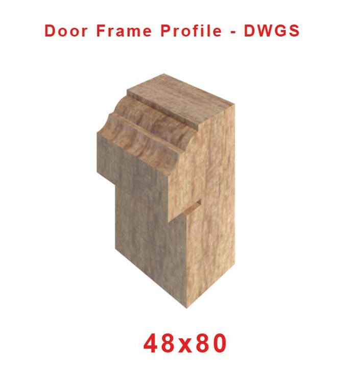 48 x 80 Door Frame profile
