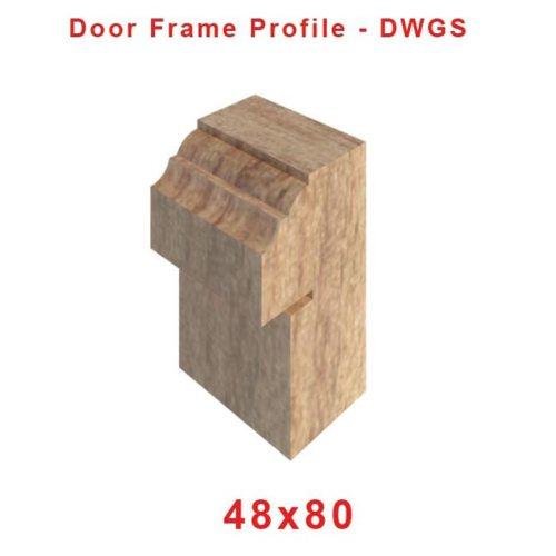 48 x 80 Door Frame profile