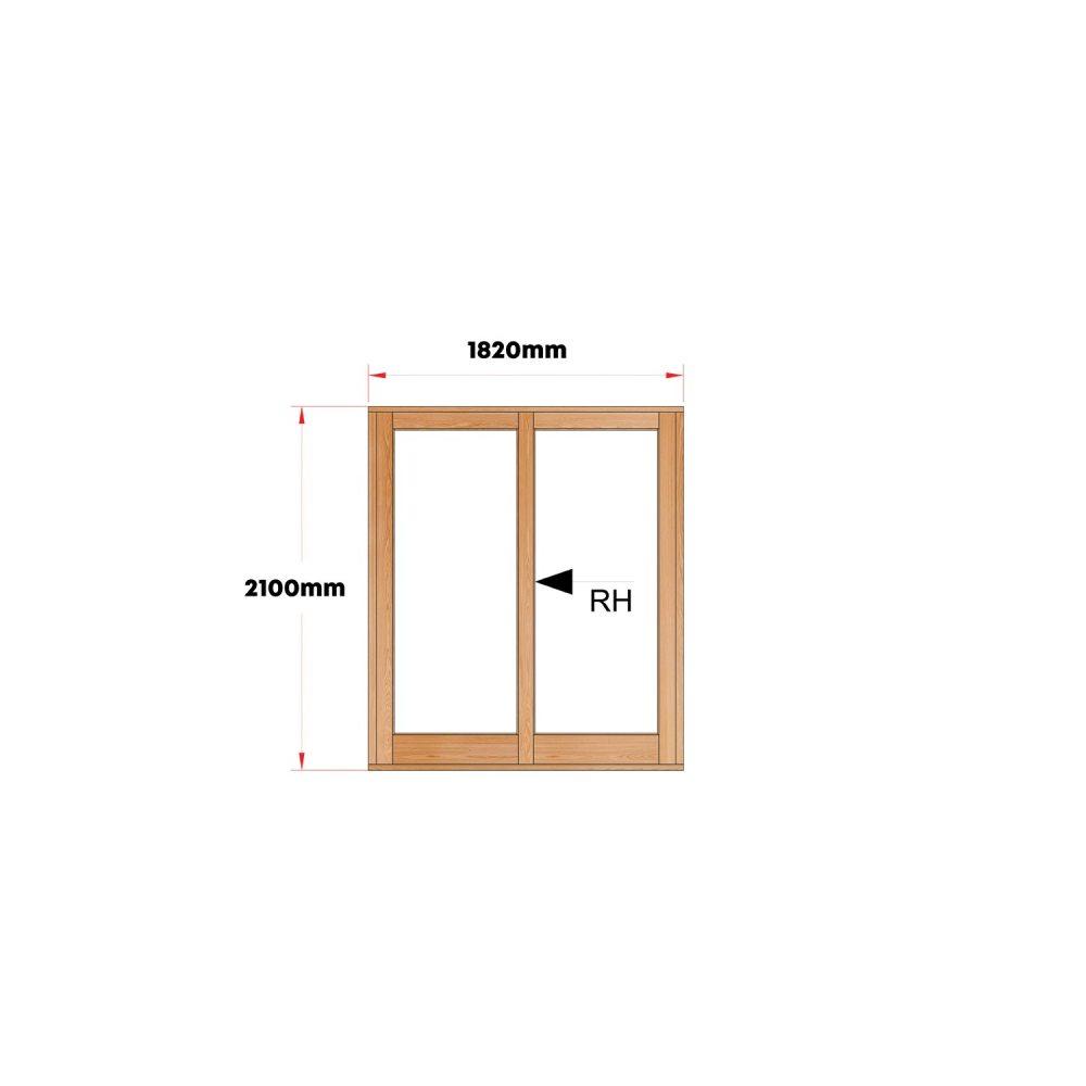 Van Acht Wood Doors Sliding Full Pane VSD1.8