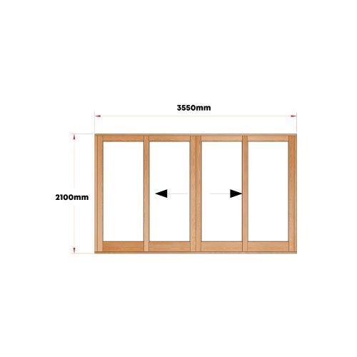 Van Acht Wood Doors Sliding Full Pane VSD3.6CO