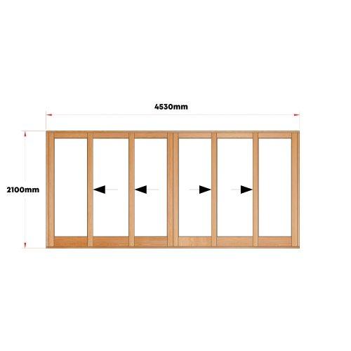 Van Acht Wood Doors Sliding Full Pane VSD4.6TSCO