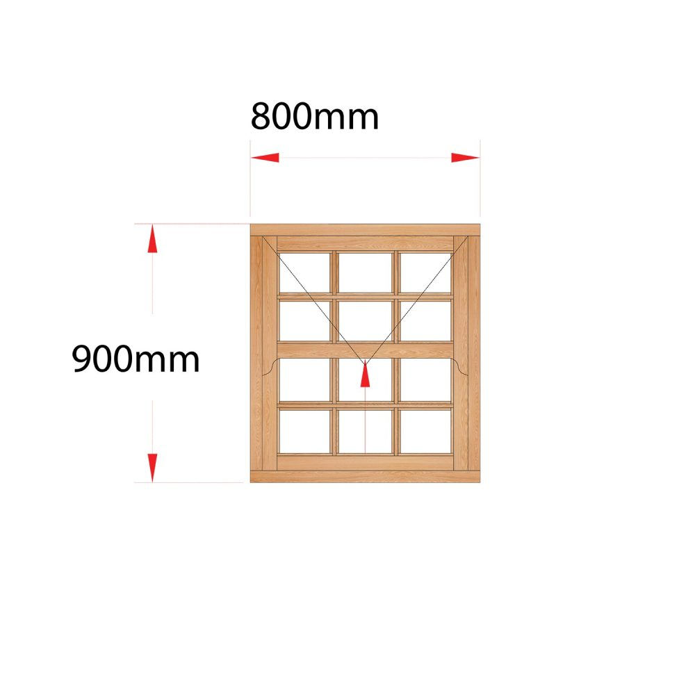Van Acht Wood Easy Lift Sash Windows Product HMEL1.5SP