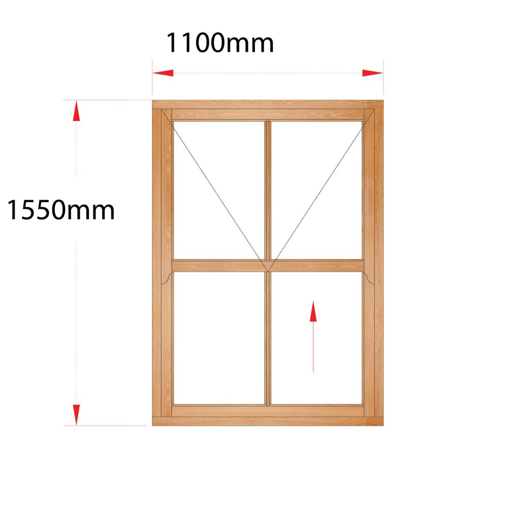 Van Acht Wood Easy Lift Sash Windows Product HMEL3V