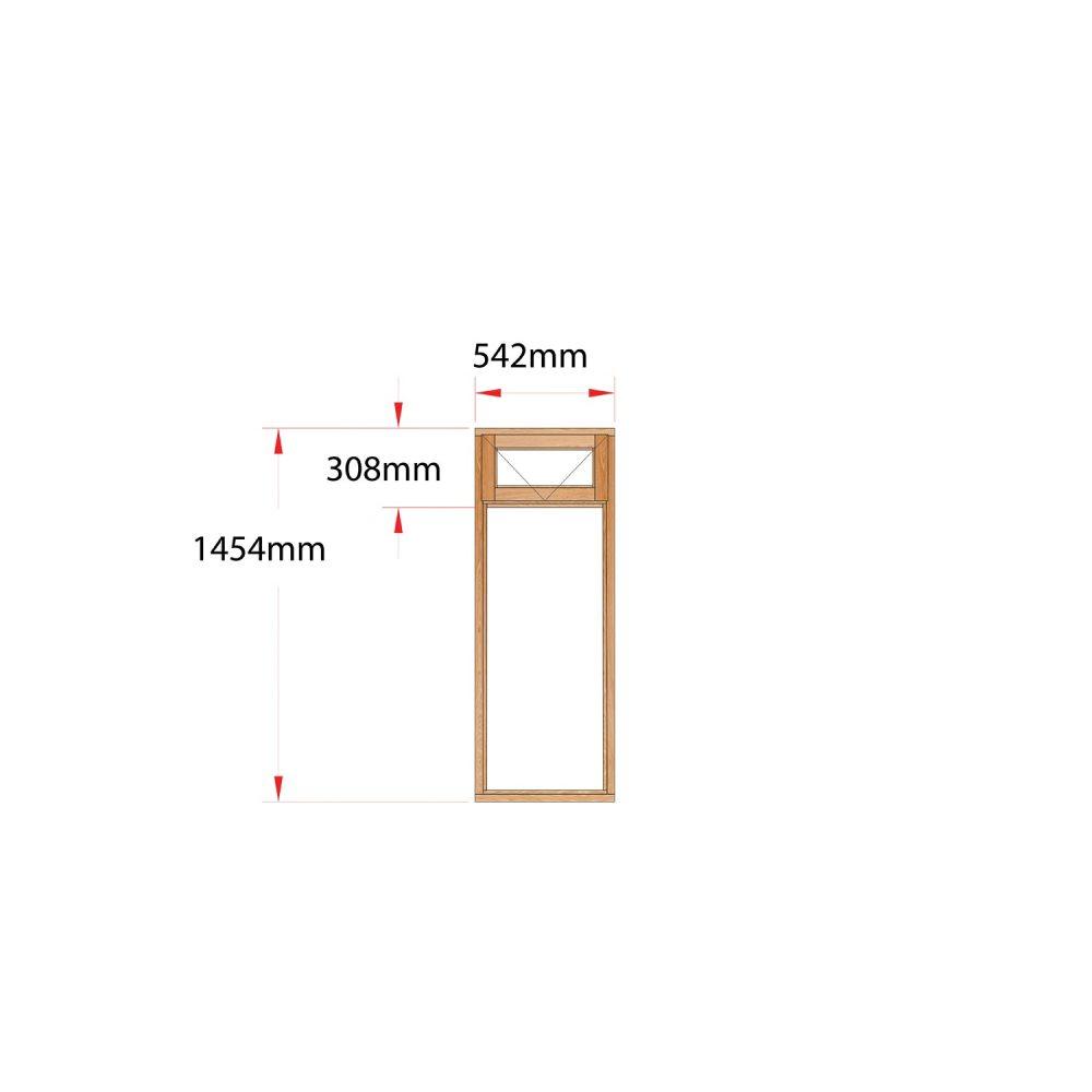 Van Acht Wood Fanlight Windows Full Pane Product MA1F