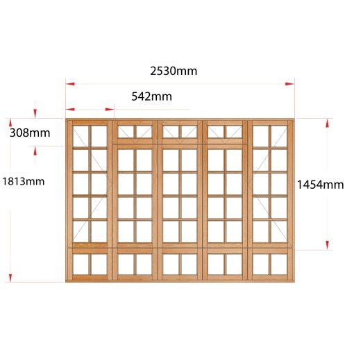 Van Acht Wood Fanlight Windows Small Pane Product MA5FSPS