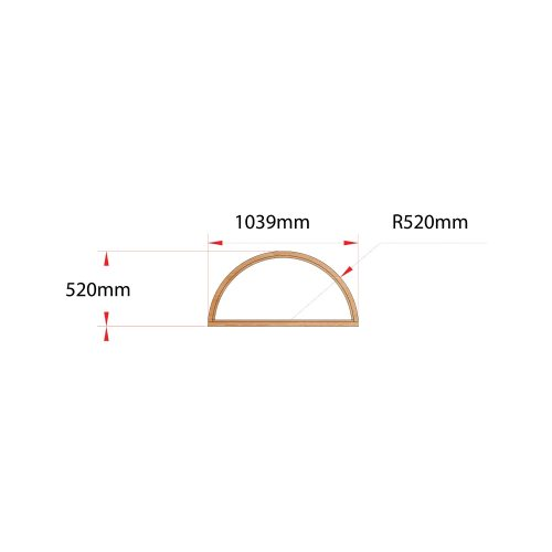 Van Acht Wood Fixed Arches for Windows Product H1040 ARCH