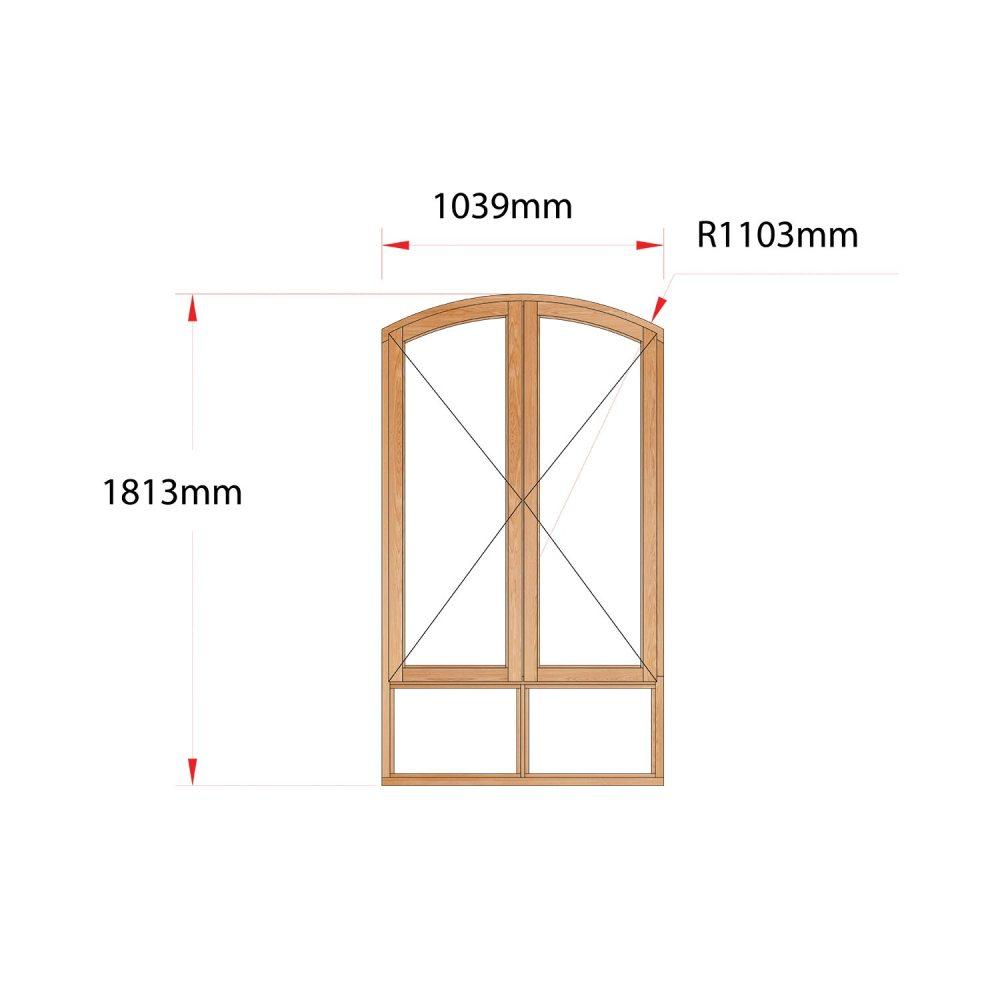 Van Acht Wood Flat Arch Windows Product AHA22S