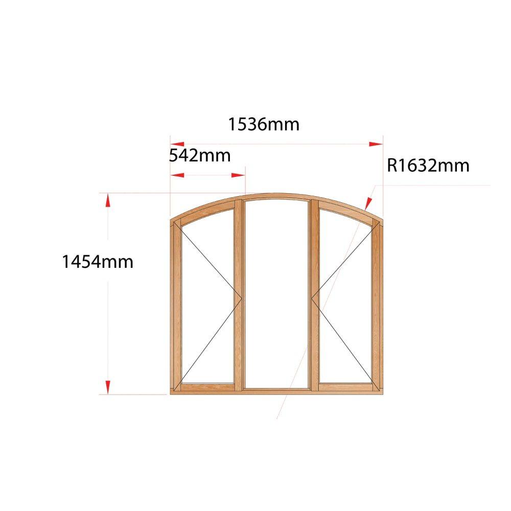 Van Acht Wood Flat Arch Windows Product AHA3