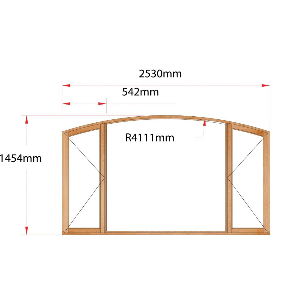 Van Acht Wood Flat Arch Windows Product AHA6