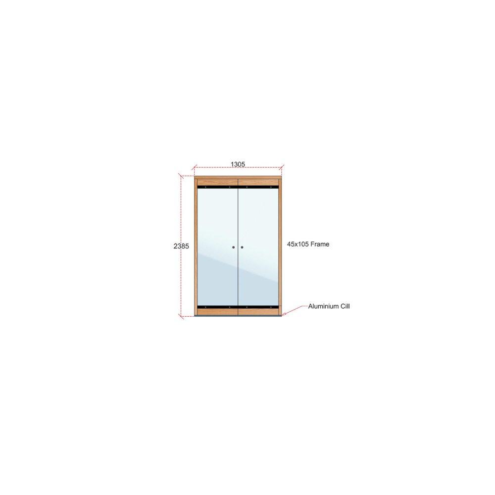 Van Acht Wood Frameless Folding Patio Doors Product FL2L 2385