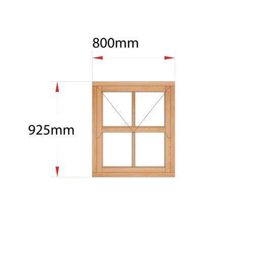 Van Acht Wood Mock Sash Windows Product HMS1.5V