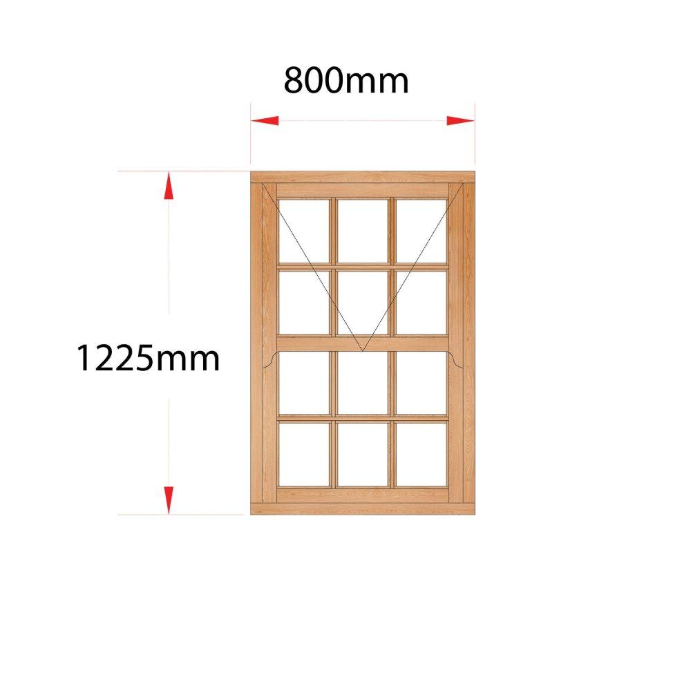 Van Acht Wood Mock Sash Windows Product HMS1SP