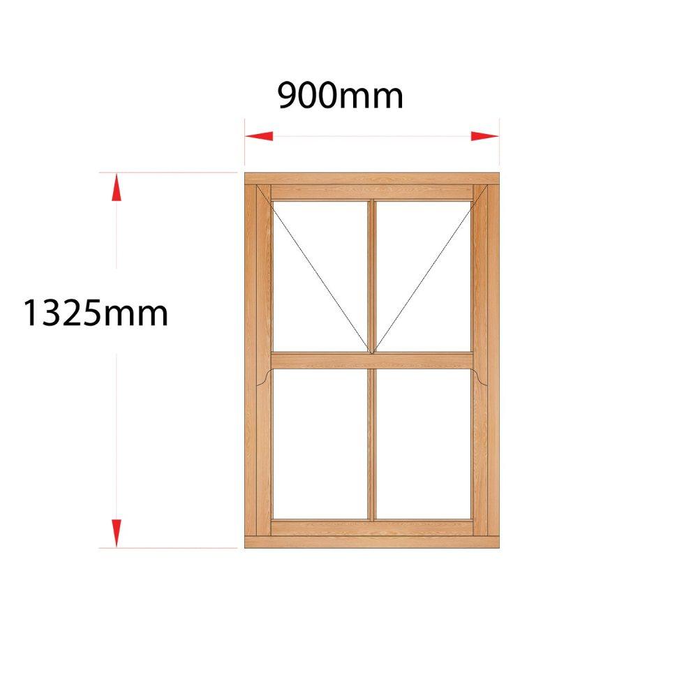 Van Acht Wood Mock Sash Windows Product HMS2V