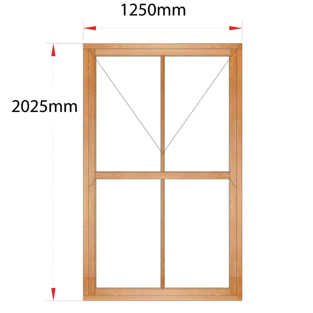 Van Acht Wood Mock Sash Windows Product HMS6V