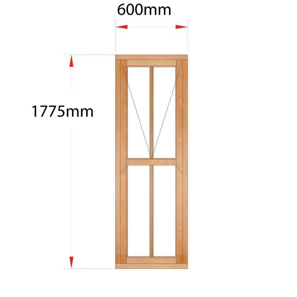 Van Acht Wood Mock Sash Windows Product HMS7V