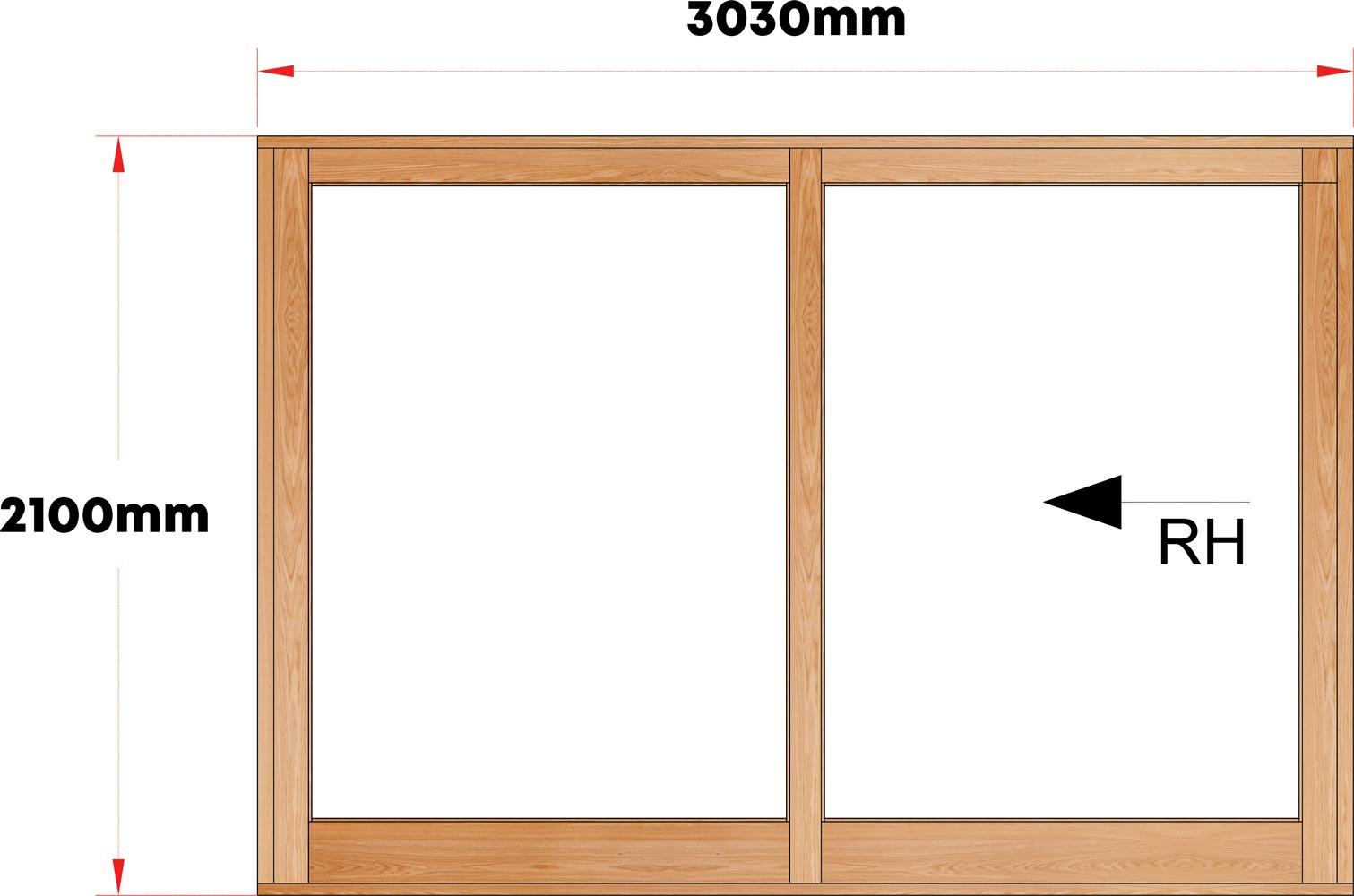 Van Acht Wood Sliding Doors Full Pane Model VSD3.0